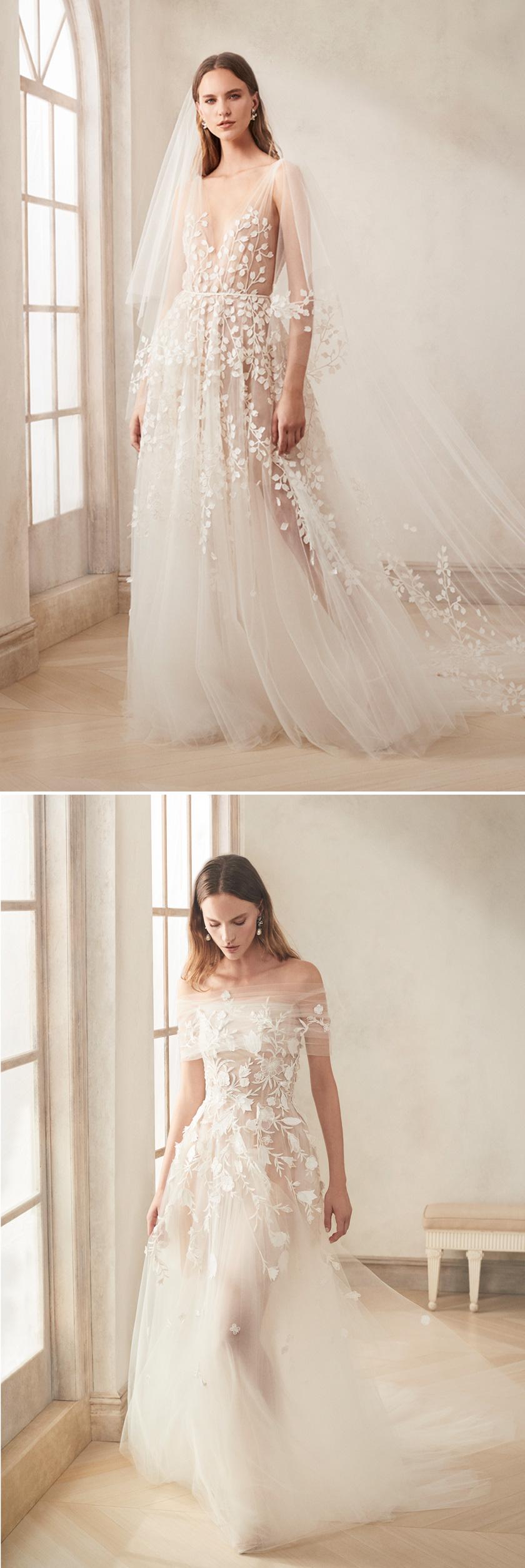 Oscar de la Renta Fall 2020 Bridal collection focuses in the princess silhouette Perfect Wedding Magazine