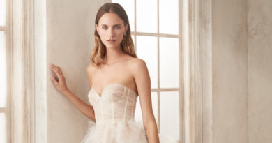 Oscar de la Renta Fall 2020 bridal sheer dresses Perfect Wedding Magazine