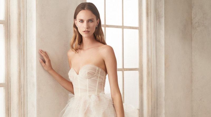 Oscar de la Renta Fall 2020 bridal sheer dresses Perfect Wedding Magazine