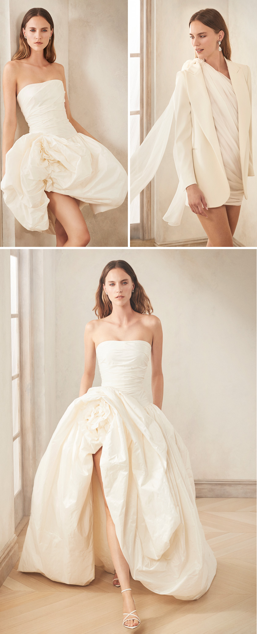 Oscar de la Renta Fall 2020 bridal collection in an off-white palette Perfect Wedding Magazine