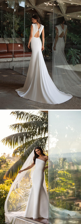 Pronovias 2021 Cruise collection includes minimalistic fashion forward silhouettes Perfect Wedding Magazine