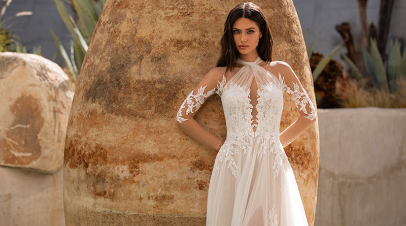 Pronovias 2021 Cruise collection tulle gowns with floral motifs Perfect Wedding Magazine