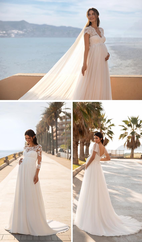 Pronovias 2021 Cruise collection maternity wedding gowns Perfect Wedding Magazine