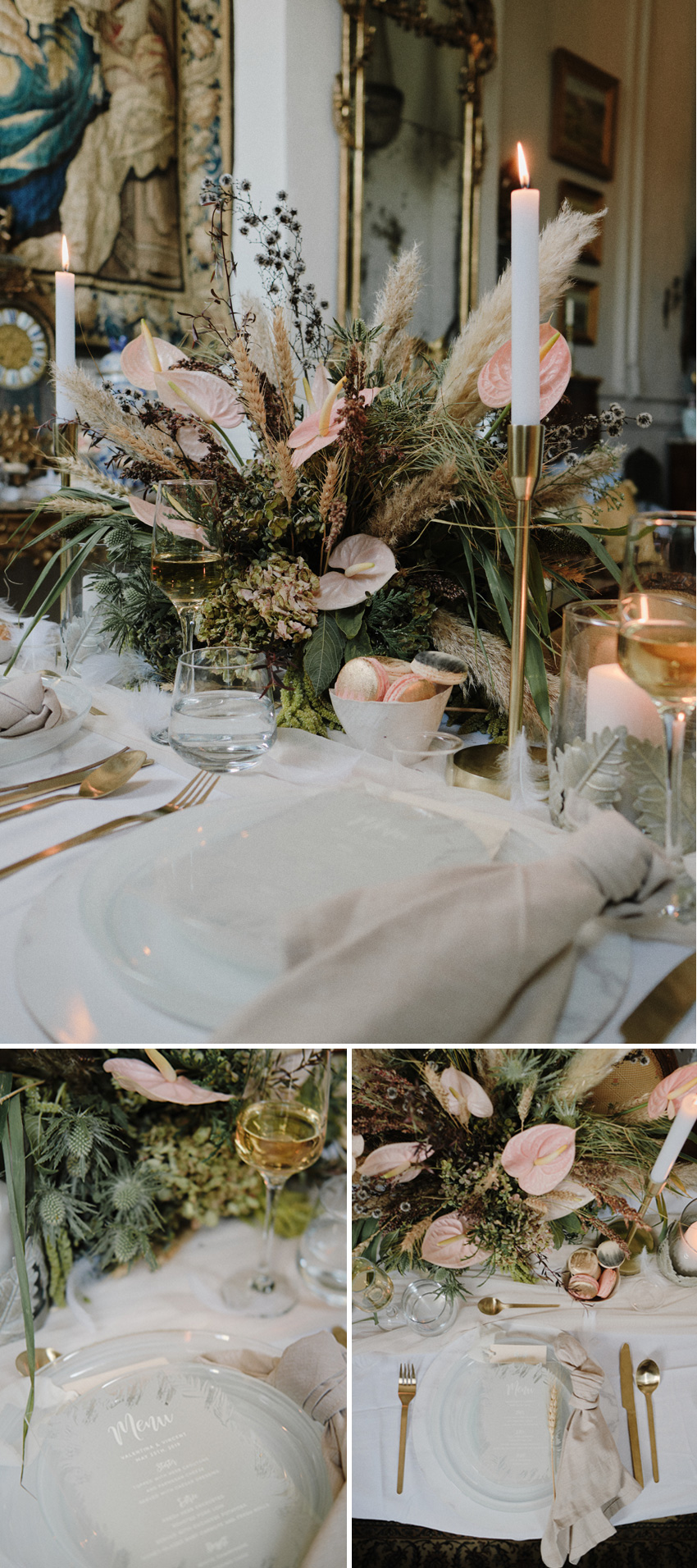 A french table escape inspired in Swan Lake ballet in Perfect Wedding Magazine