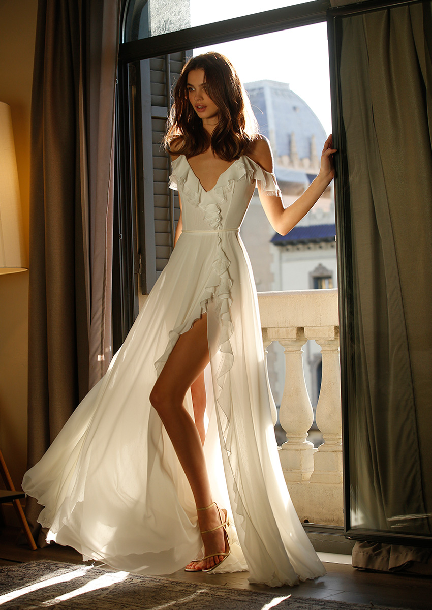 the spirit of jolie. bridal is chic, effortless and confident featured in Perfect Wedding Magazine