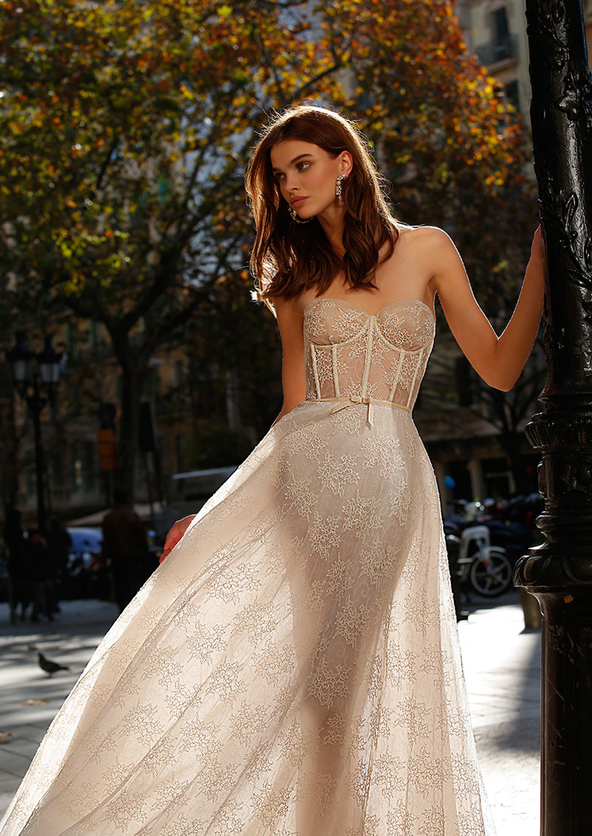 jolie. bridal wedding dresses are made with unique materials & fabrics featured in Perfect Wedding Magazine