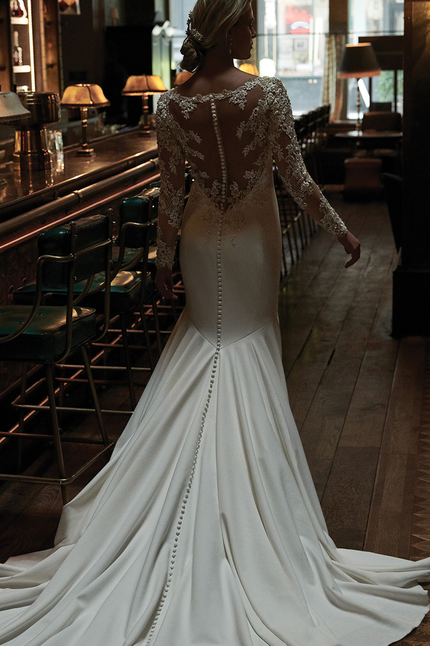 Justin alexander Signature Spring 2021 bridal collection features lace gowns