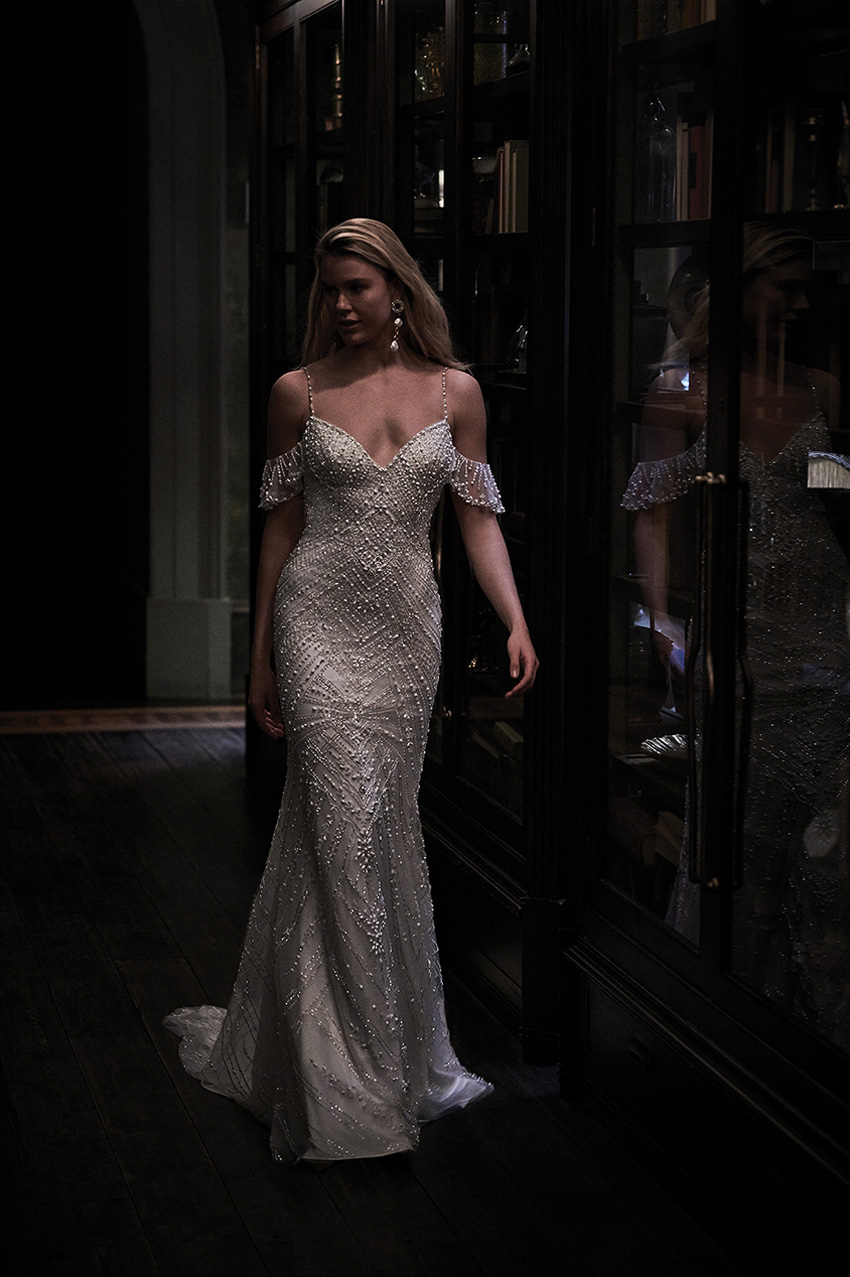 Justin alexander Signature Spring 2021 bridal collection includes beading and luxurious embroideries