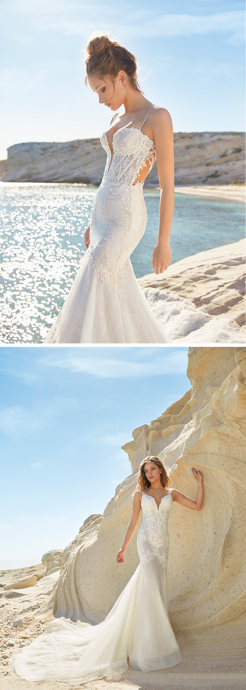 Ines by Ines Di Santo Spring 2021 collection inspired in famous beaches around the world featured in Perfect Wedding Magazine