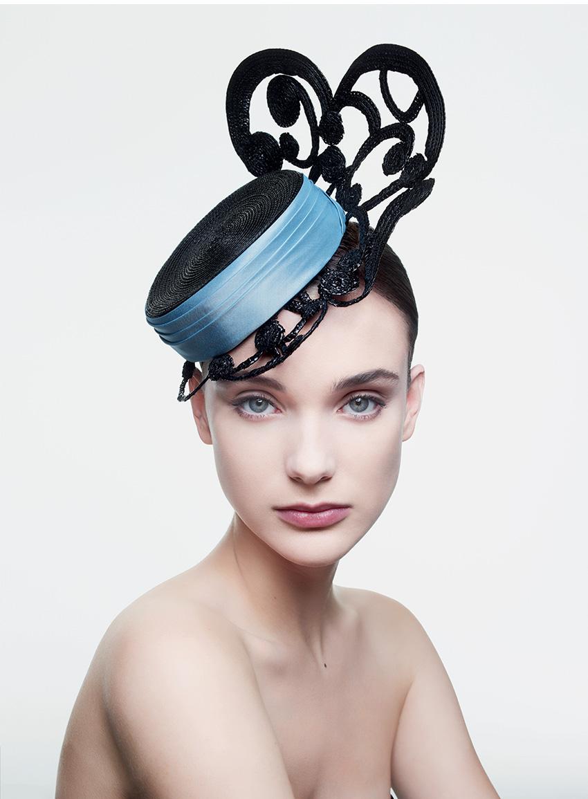 "Dior ""bibi"" hat with filigree brim, made by Stephen Jones in Perfect Wedding Magazine"