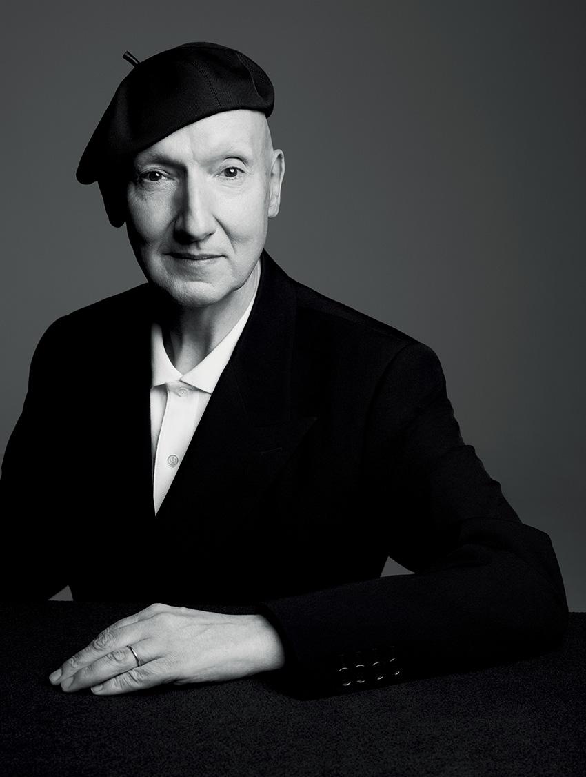 Stephen Jones the milliner at Christina Dior in Perfect Wedding Magazine