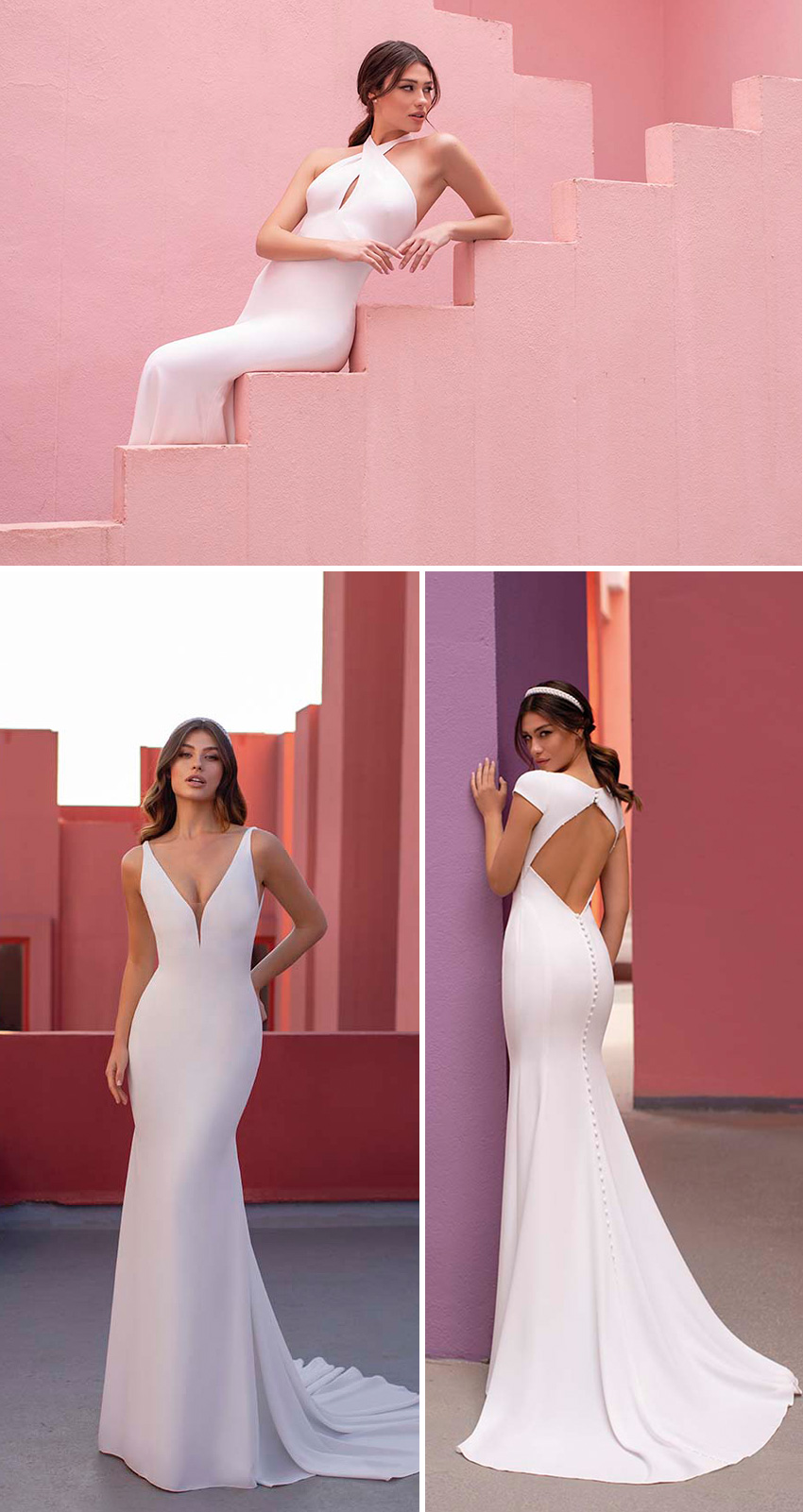 White One New bridal collection DayDream in Perfect Wedding Magazine features Minimal dresses