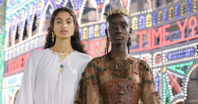 Dior Beauty look created by Peter Philips at Dior Cruise 2021 show in Lecce Puglia featured in Perfect Wedding Magazine