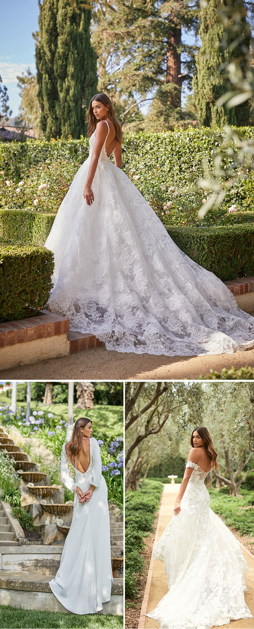 Monique Lhuillier Spring 2021 bridal collection features luminous embroideries as seen in Perfect Wedding Magazine