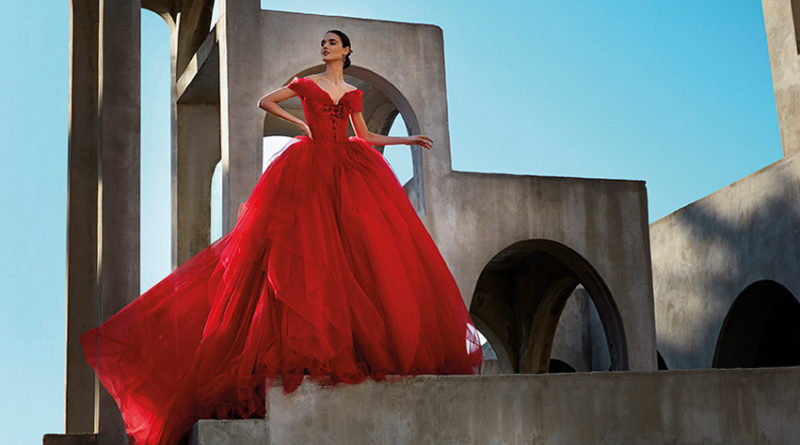 Red gowns are the star in the new Atelier Pronovias Premiere Haute Couture collection in Perfect Wedding Magazine