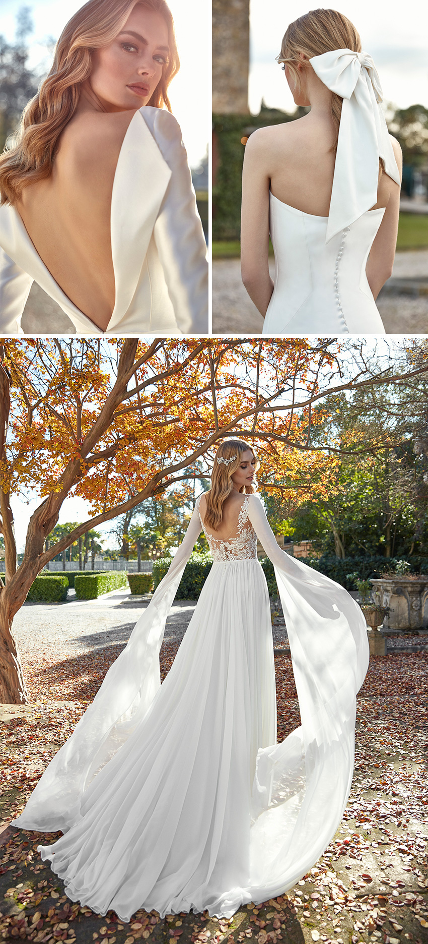 St. Patrick 2021 bridal collection features silky tails and floor-length sleeves in Perfect Wedding Magazine