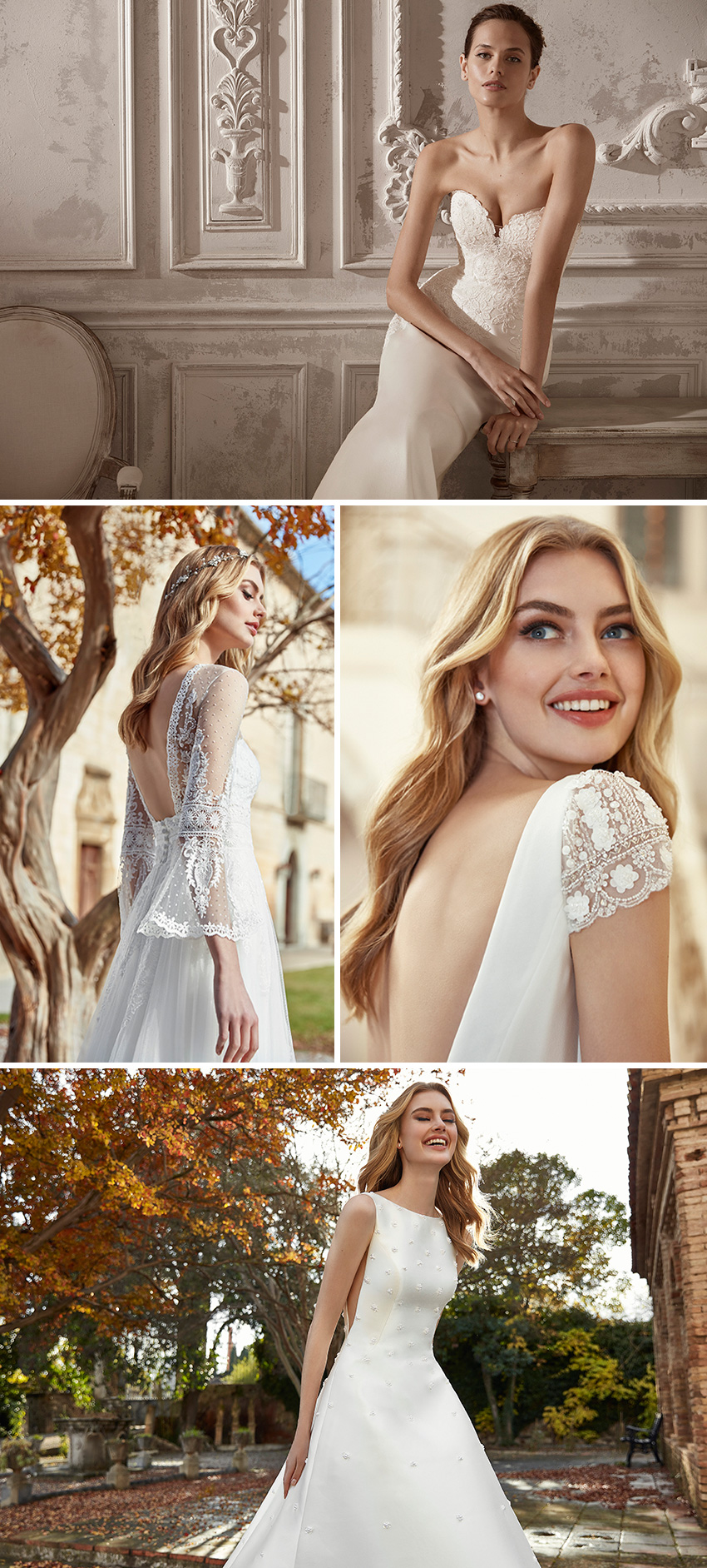 St. Patrick 2021 bridal collection inspired by the elegant atmosphere of Fifth Avenue in New York featured in Perfect Wedding Magazine