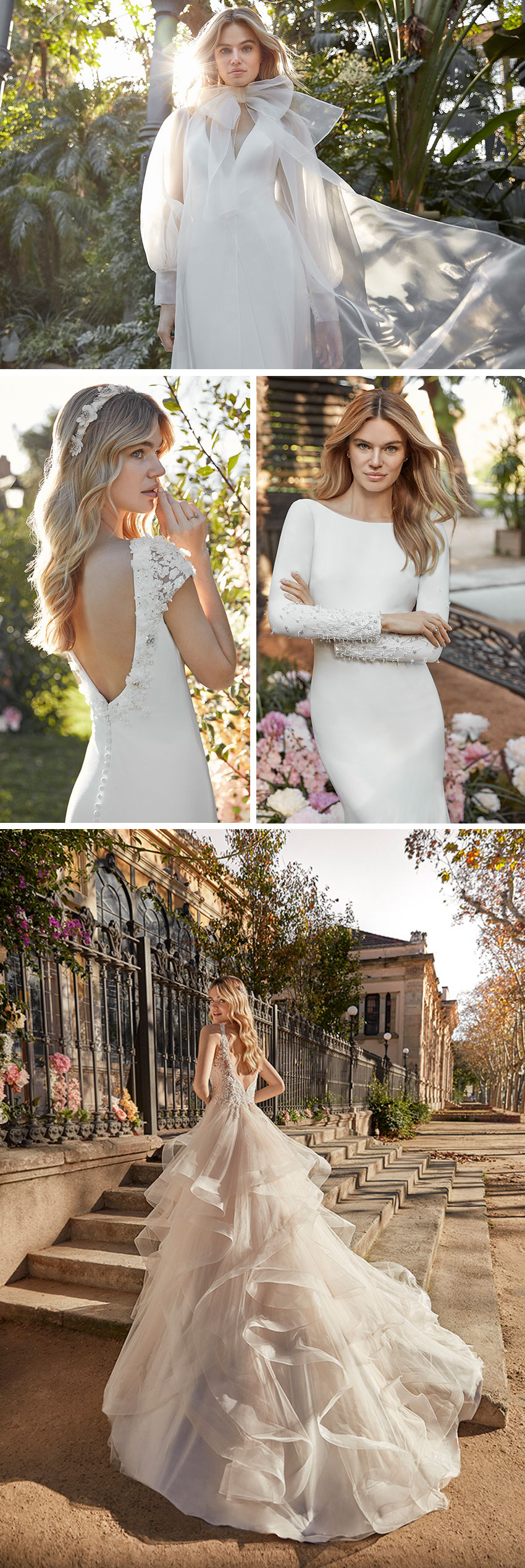 St. Patrick La Sposa 2021 collection features a powdery colour palette and ruffle details as featured in Perfect Wedding Magazine
