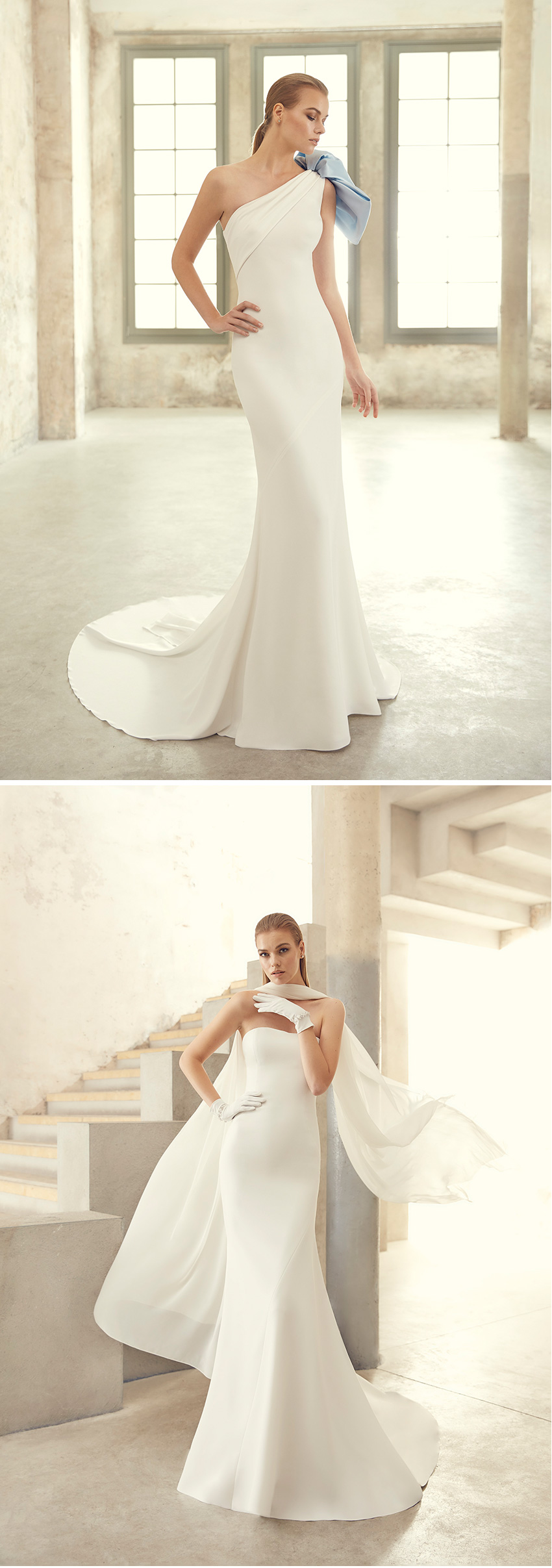 St Patrick Studio 2021 collection has wide range of bodices with micro pearl details featured in Perfect Wedding Magazine