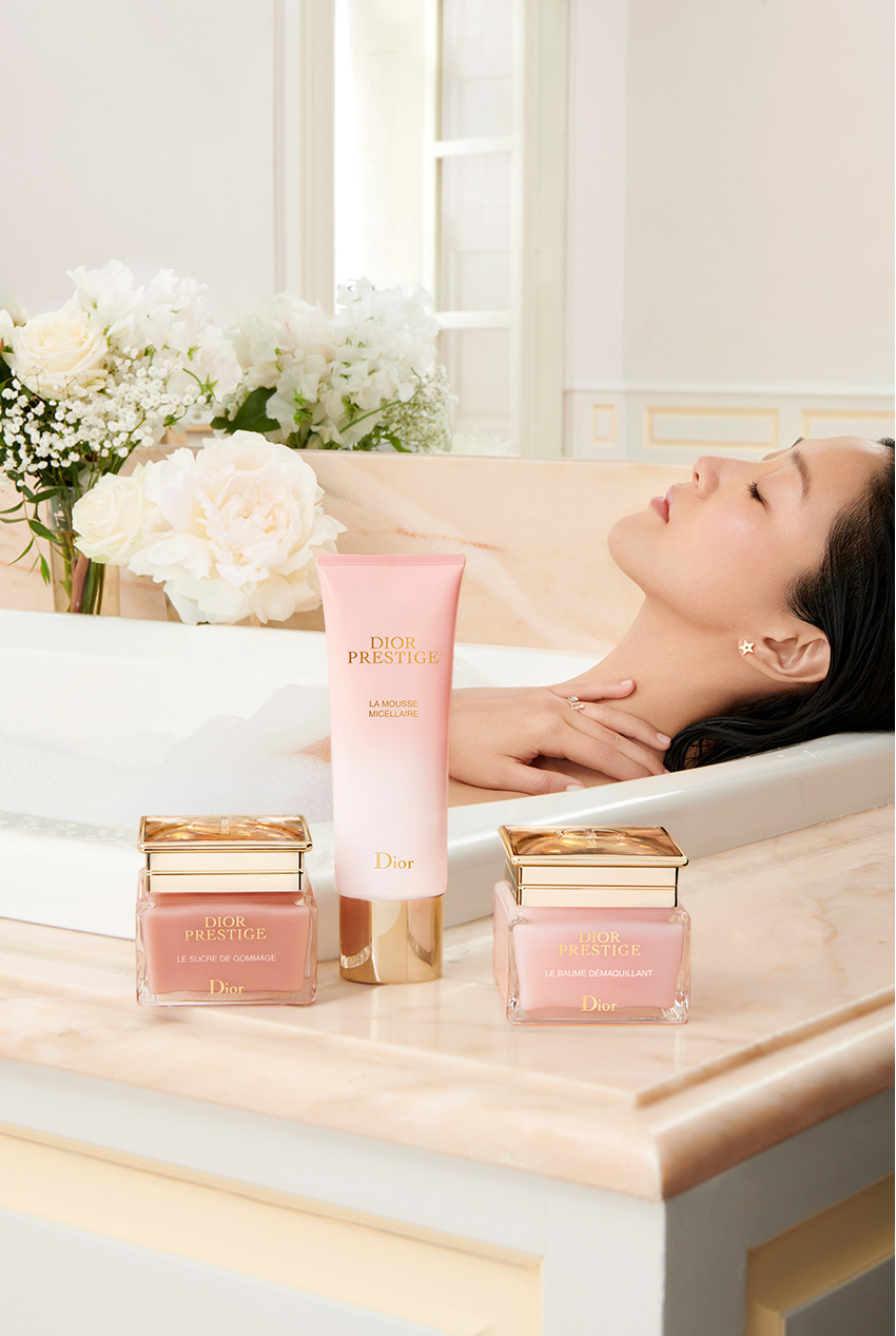 Dior skincare beauty essentials for the honeymoon featured in Perfect Wedding Magazine