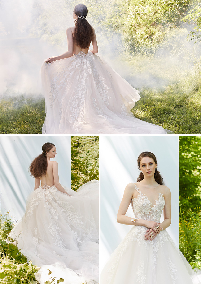 Ines Di Santo Spring 2021 Couture bridal collection are as enchanting as blossoms featured in Perfect Wedding Magazine