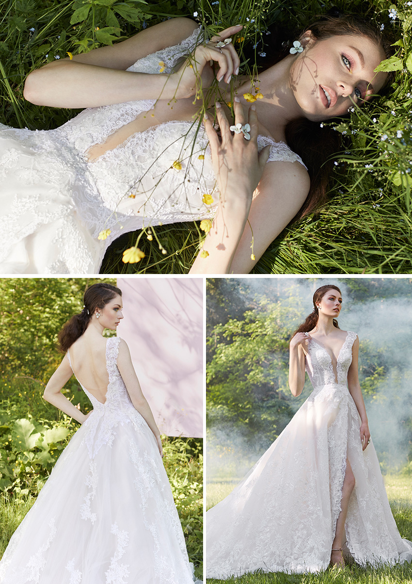Ines Di Santo Spring 2021 Couture bridal collection includes new bridal accessories fit for a princess as featured in Perfect Wedding Magazine