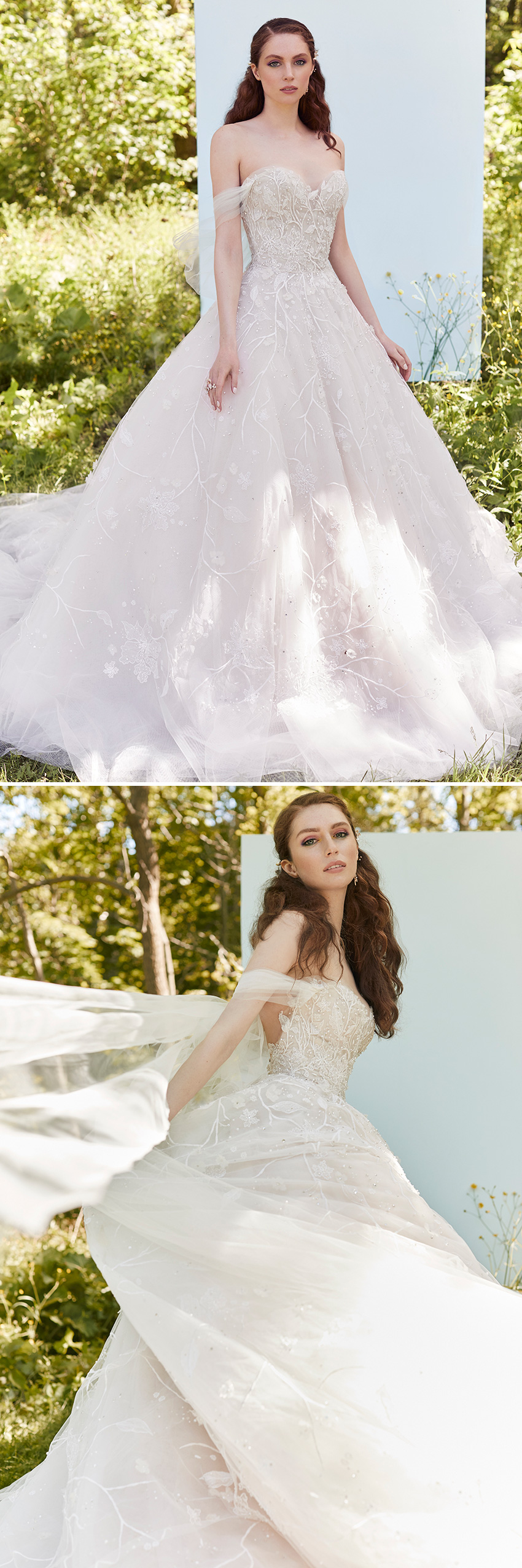 Ines Di Santo Spring 2021 Couture bridal collection includes hand embellishments as featured in Perfect Wedding Magazine
