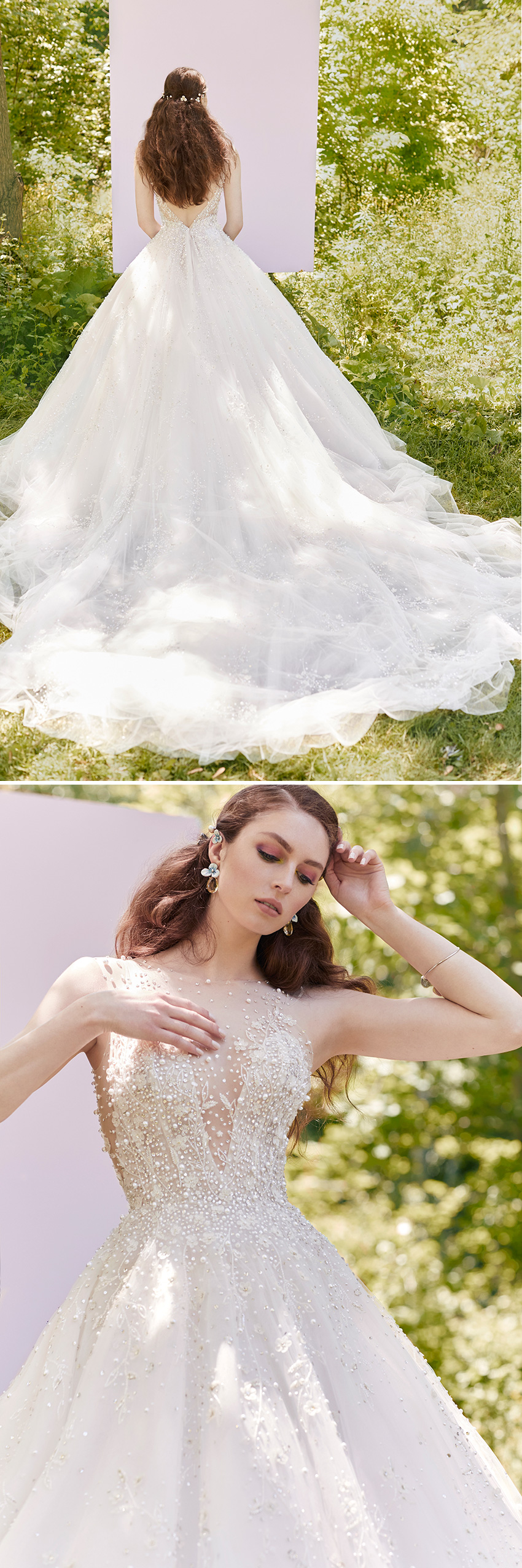 Ines Di Santo Spring 2021 Couture bridal collection highlights new lightness dress featured in Perfect Wedding Magazine