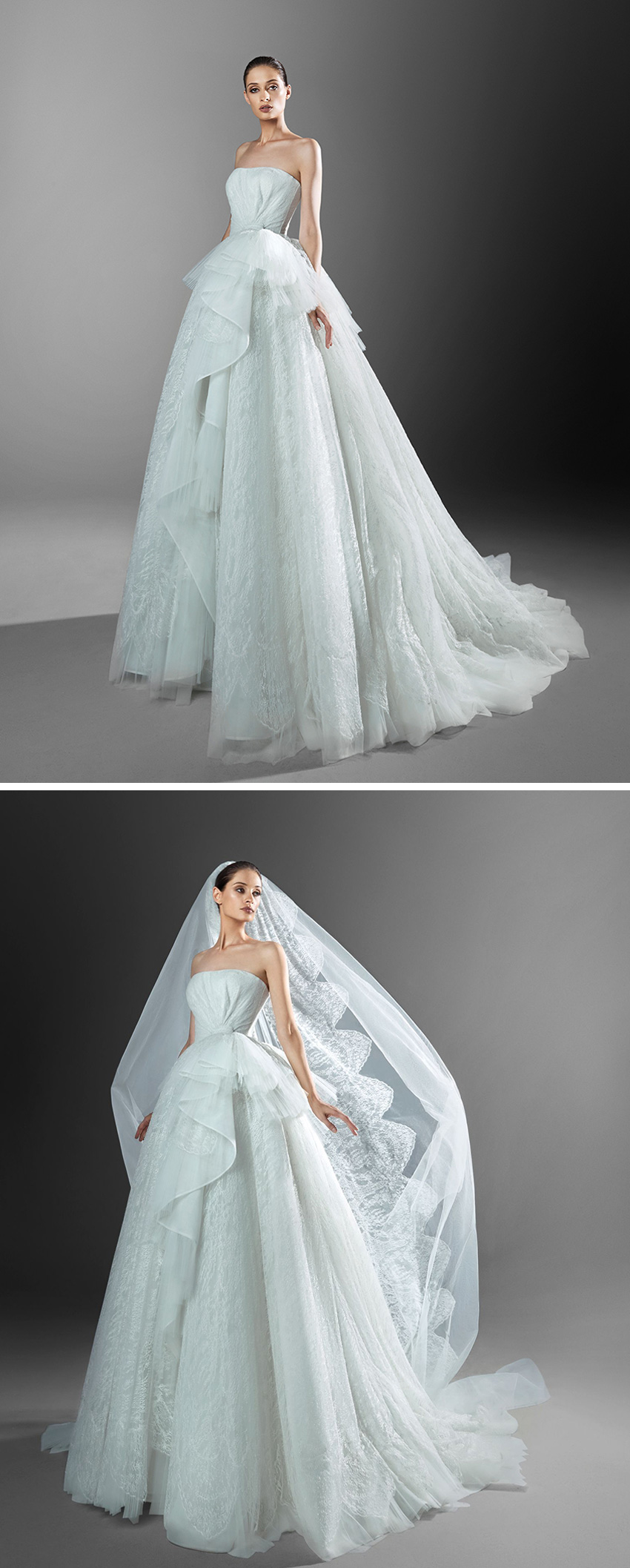 Zuhair Murad Spring 2021 bridal collection showcases delicate embroideries and corset princess gown featured in Perfect Wedding Magazine