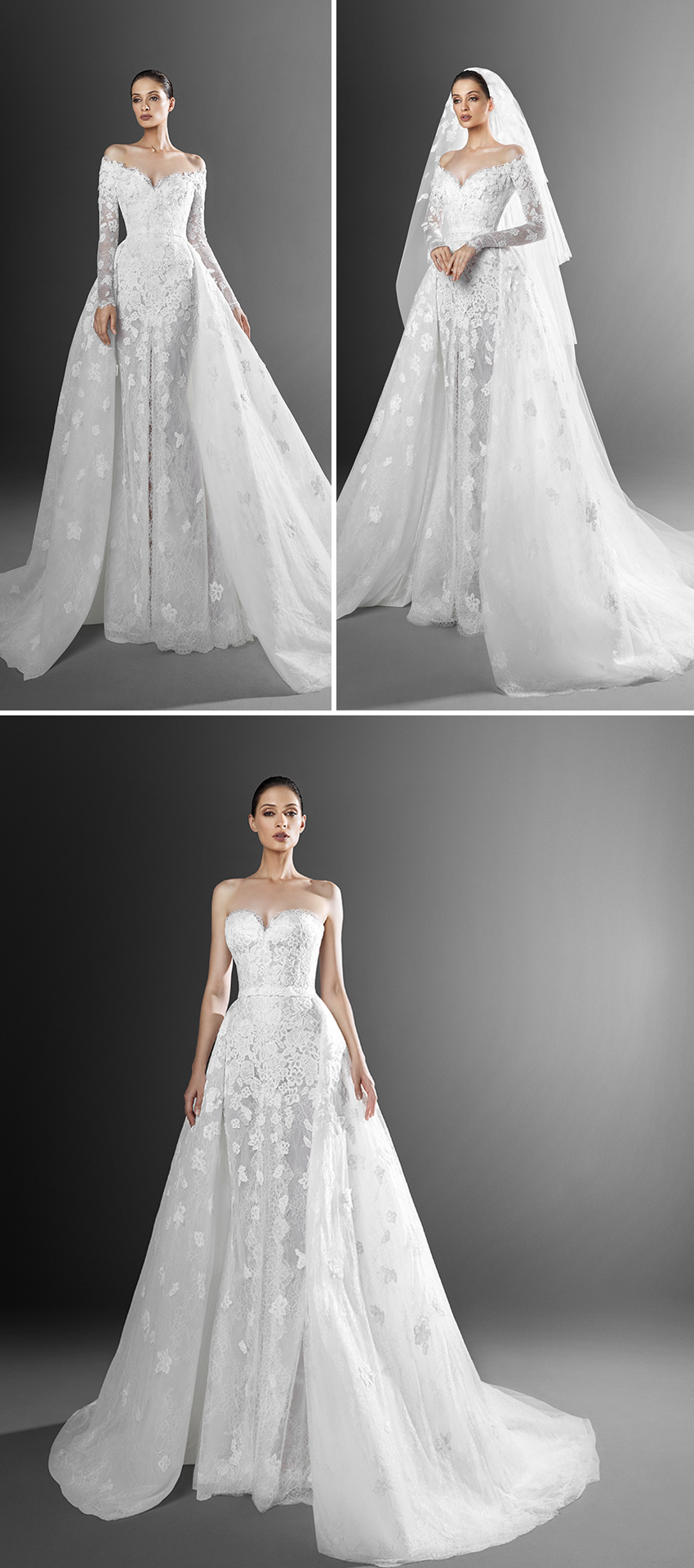 Zuhair Murad Spring 2021 bridal collection includes voluminous over skirts featured in Perfect Wedding Magazine