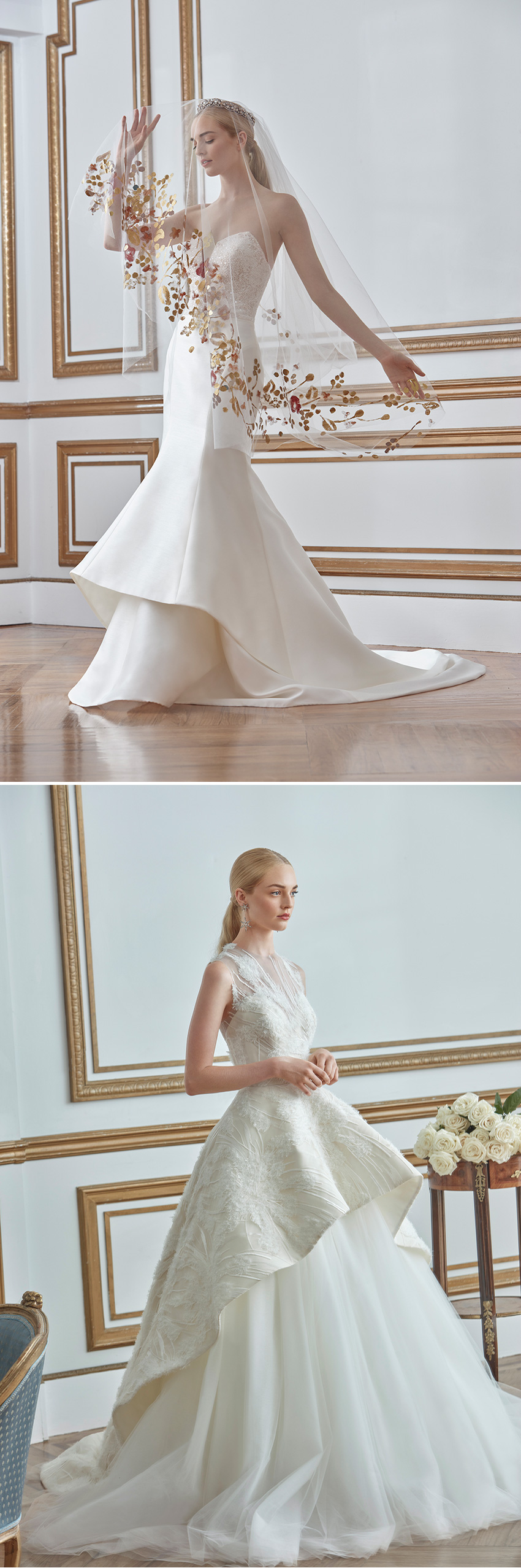 Sareh Nouri Fall 2021 Bridal Collection is inspired in the discerning Bride that seeks for a regal look featured in Perfect Wedding Magazine