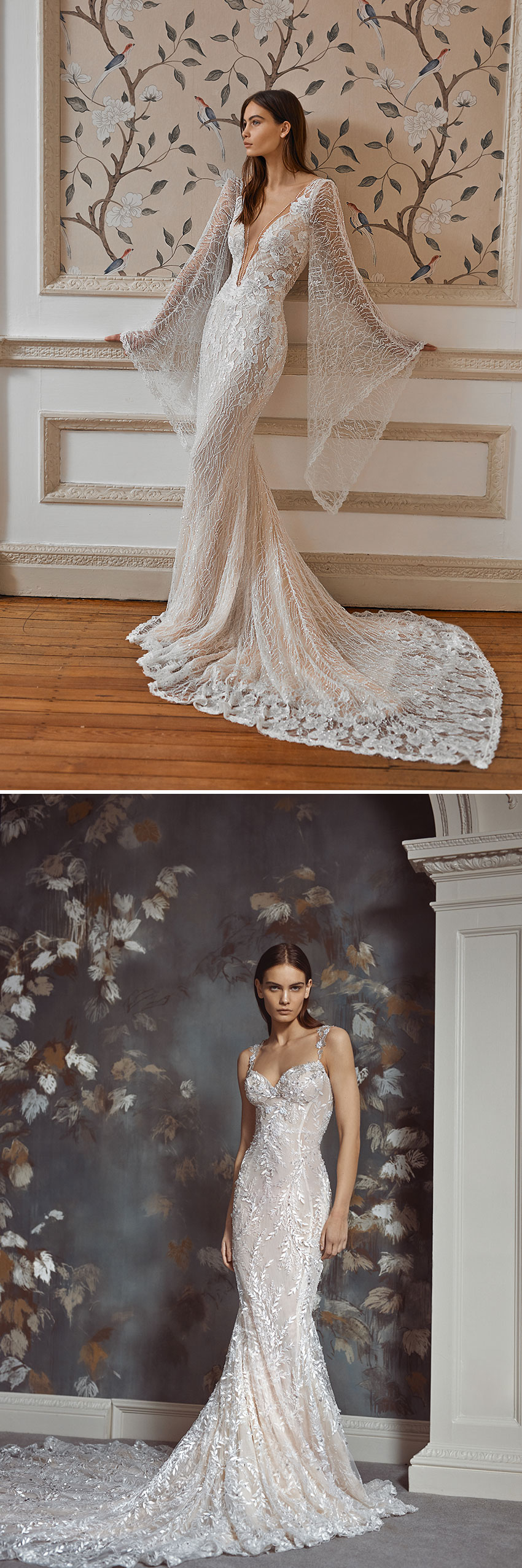 Galia Lahav Fall Winter 2021 Couture Collection includes gowns with detachable skirts featured in Perfect Wedding Magazine