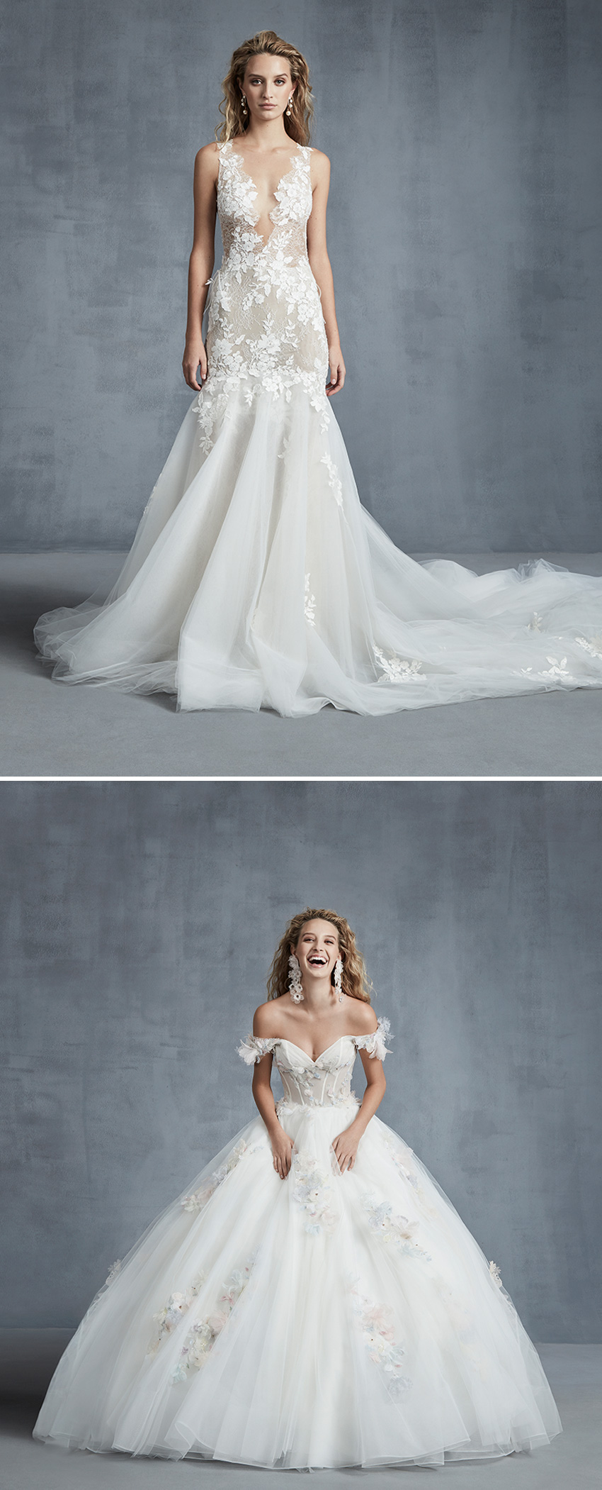 Ines Di Santo Fall 2021 bridal collection wrapped in love is inspired in the designer's memories of her lifetime featured in Perfect Wedding magazine