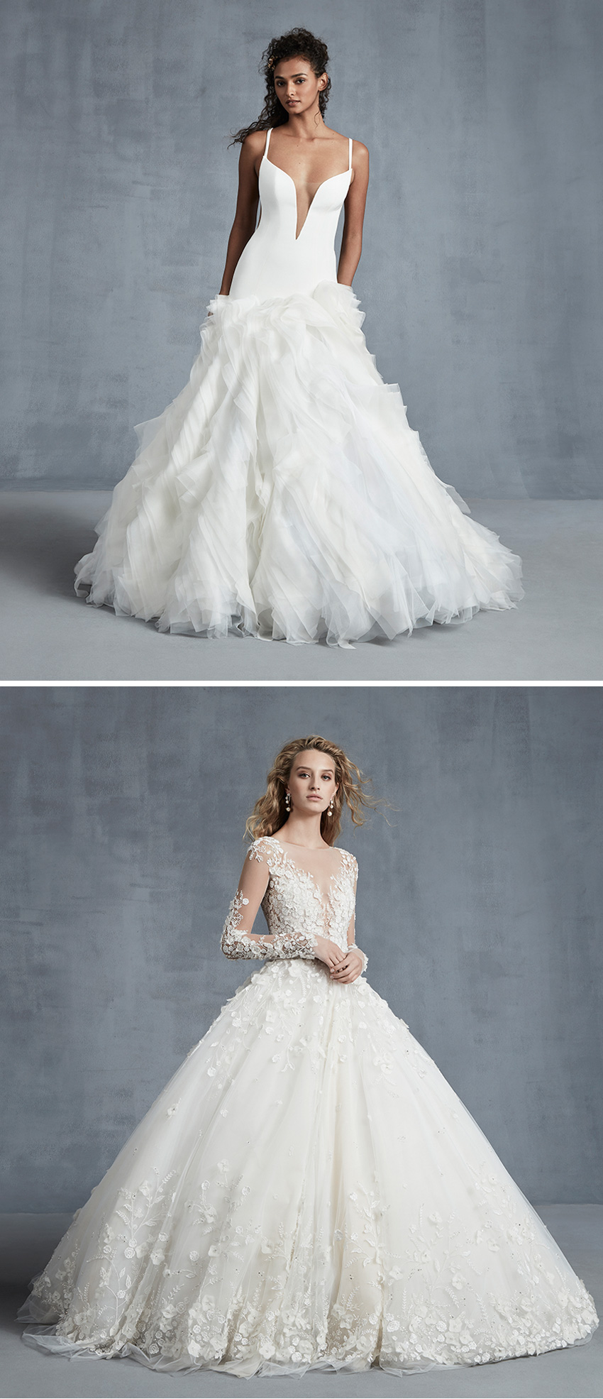 Ines Di Santo Fall 2021 bridal collection includes the designer's signature ballgowns featured in Perfect Wedding Magazine