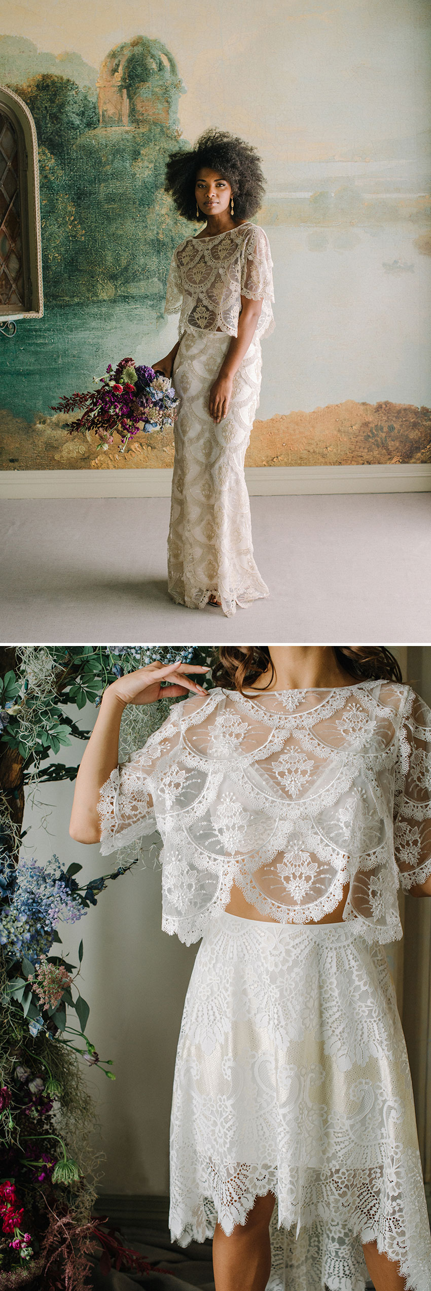 Claire Pettibone unvelis Ready to Wed collection includes the designer's signature laces in Perfect Wedding Magazine