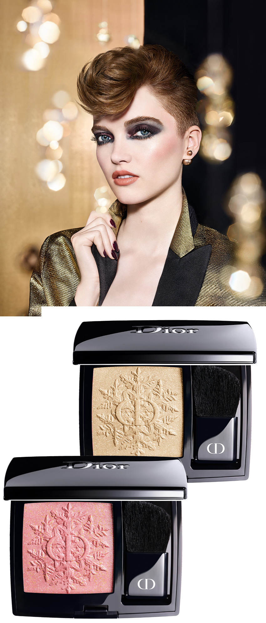 Dior Rouge Blush for the Golden Nights Dior Makeup 2020 Holiday collection in Perfect Wedding Magazine