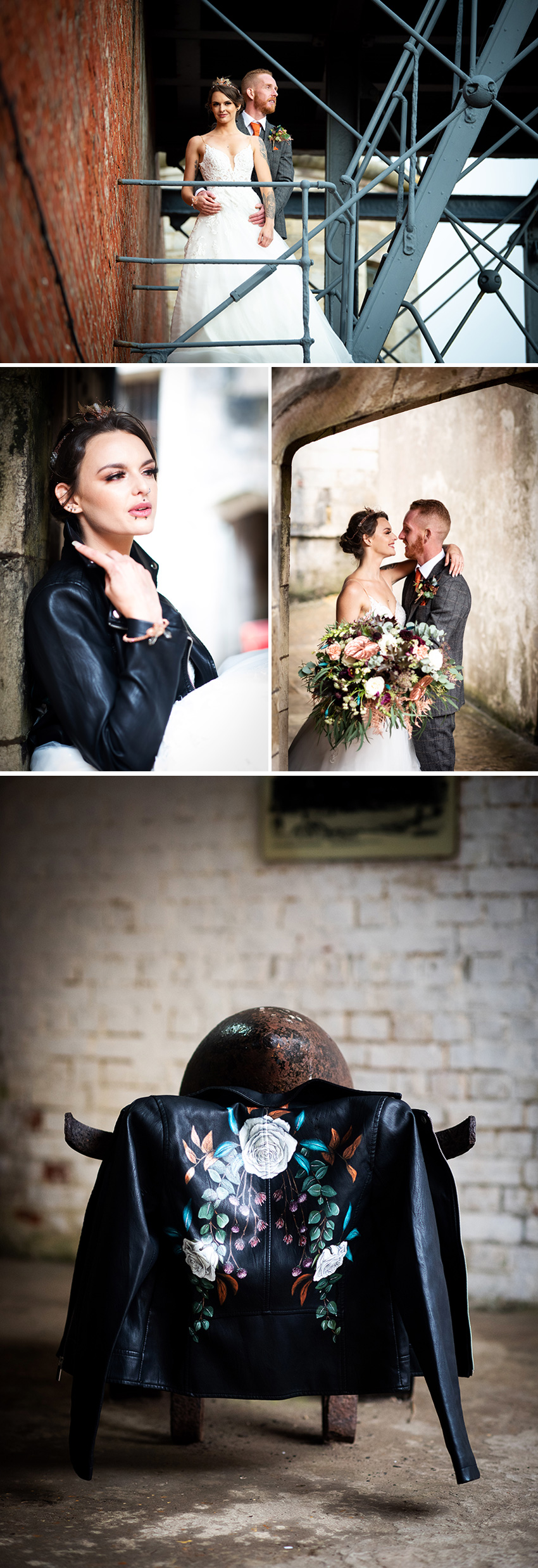 A moody our of the ordinary wedding style shoot in Perfect wedding Magazine