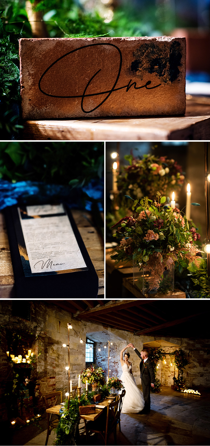 Edgy Chic Wedding florals and wedding stationery featured in Perfect Wedding Magazine