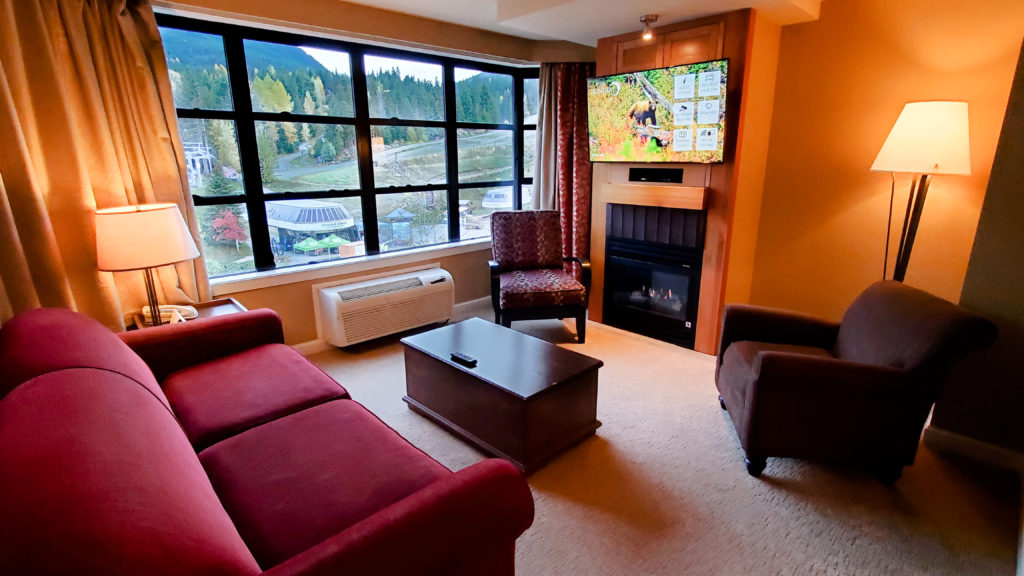 Sundial Whistler's two bedroom suite living room