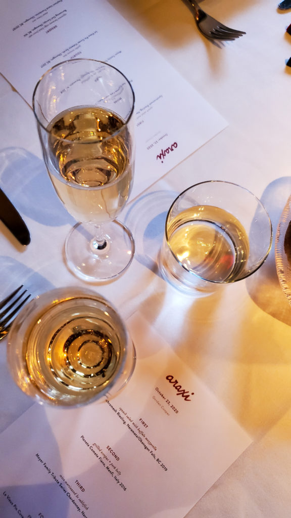 Whistler Araxi wine flight