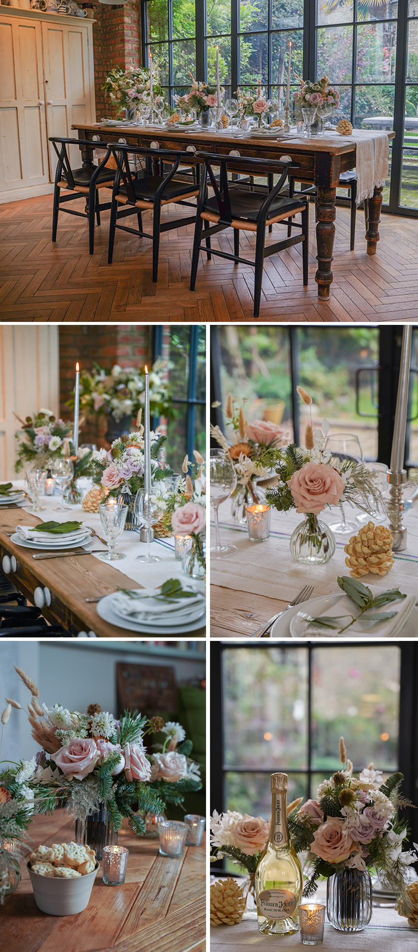 Sno Festive collection beautiful ethereal wintery christmas table decor featured in perfect wedding Magazine