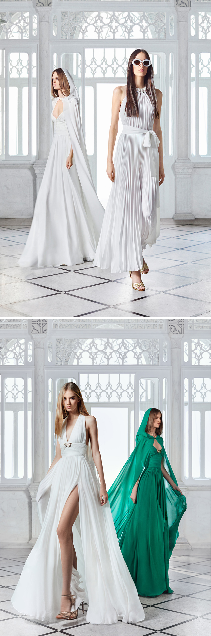 ELIE SAAB PREFALL 2021 brings the emboldened feminine strength of the 1970s into the contemporary moment in Perfect Wedding Magazine