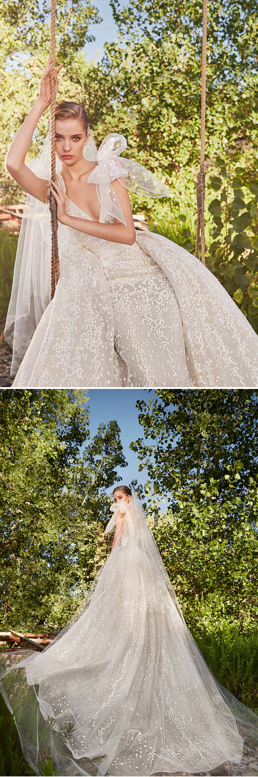 Elie Saab's Spring 2021 Bridal collection reinforces the romantic femininity quintessential to the Couture house featured in Perfect Wedding Magazine