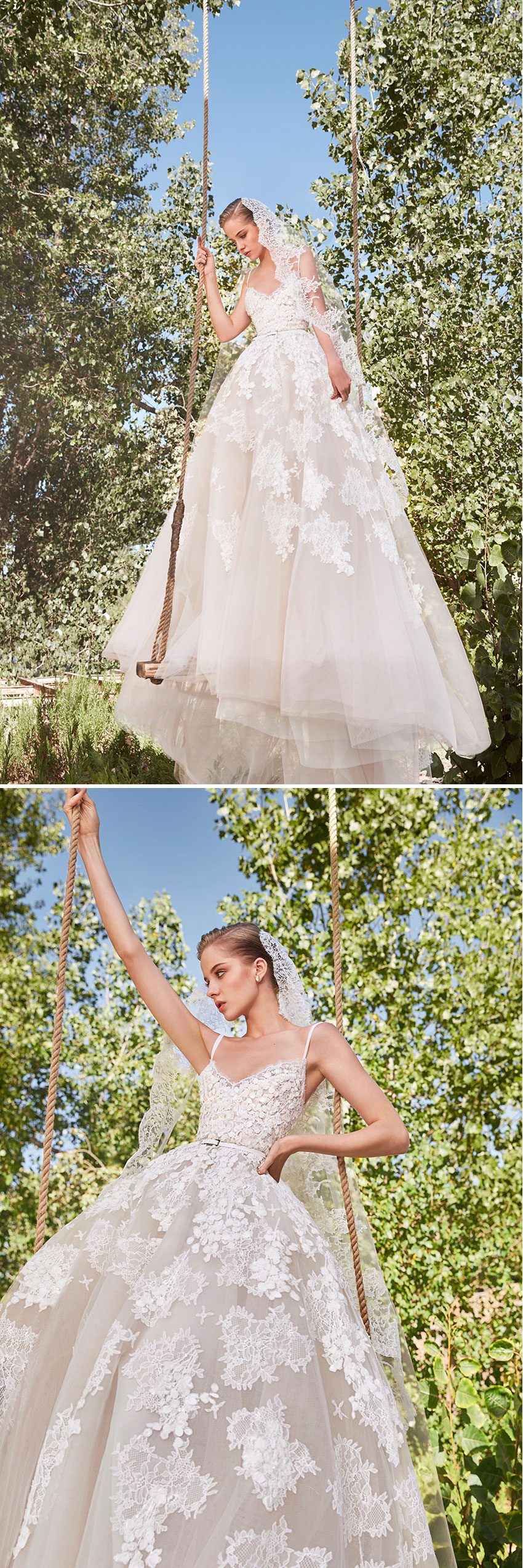 Elie Saab Spring 2021 bridal collection accentuates the bride's own beauty as seen in Perfect Wedding Magazine