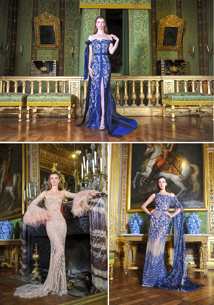 Ziad Nakad Haute Couture Spring Summer 2021 collection also features dresses in lace and luxurious silk featured in Perfect wedding Magazine
