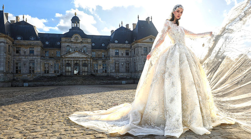 Ziad Nakad Haute Couture Spring Summer 2021 collection features a wedding dress that took 3 months of work featured in Perfect Wedding Magazine