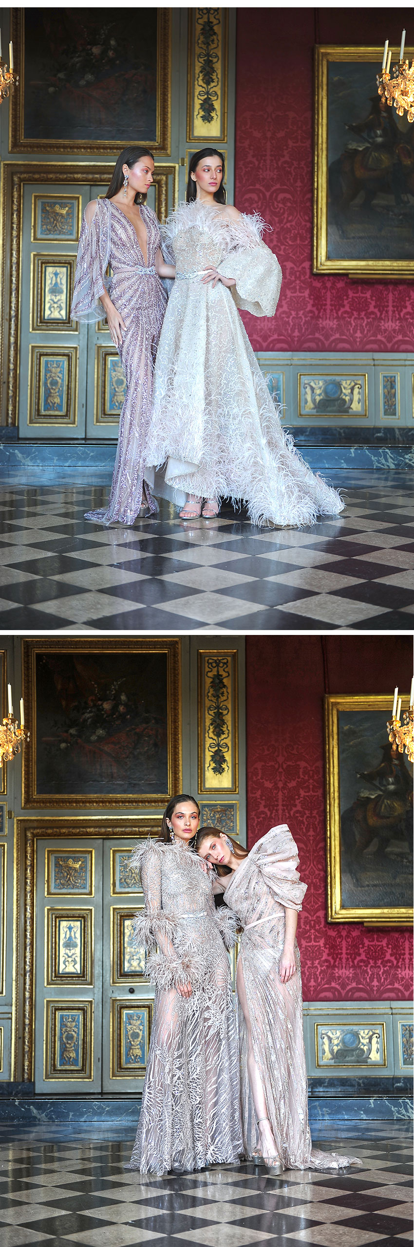 Ziad Nakad Haute Couture Spring Summer 2021 collection photographed at the Château de Vaux-Le-Vicomte featured in Perfect Wedding Magazine