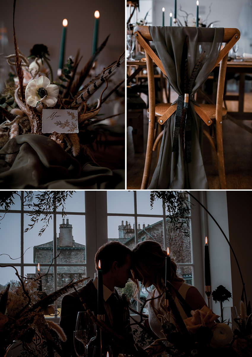 Earthy rustic colour palette for a micro wedding inspiration with whites, nude and green colours featured in Perfect wedding Magazine, wedding blog