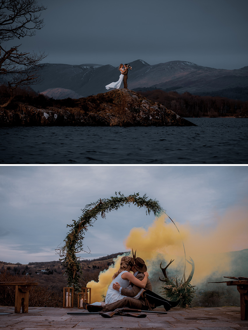 Lakeside rustic wedding inspiration UK wedding venue in Perfect wedding Magazine