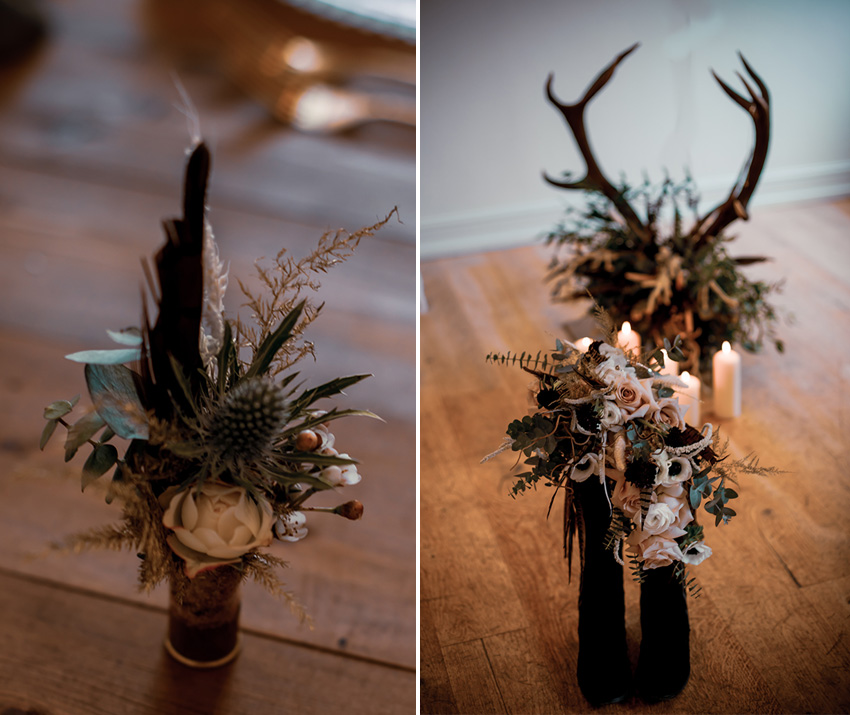 Boutoniere and floral bouquet rustic country wedding theme inspiration Perfect Wedding Magazine Wedding Blog